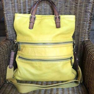 Fossil Explorer Fold Over Large Handbag Used
